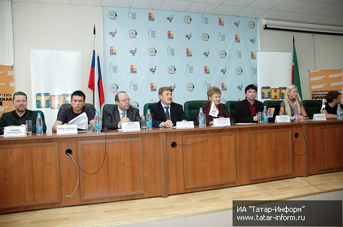 The press conference with participants of the The Youth Train in Kazan